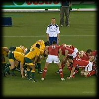 Australia Wales 2nd Test scrum Wales