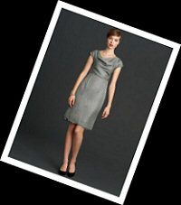 Banana Republic Mad Men lace tipped dress