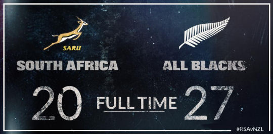 Boks All Blacks Result TRC 2015
