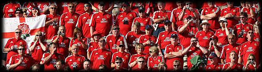 British Lions sea of red