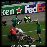 Dan Tuohy Ulster try