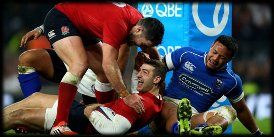 England Samoa Jonny May try
