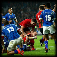 England Samoa Mike Brown try