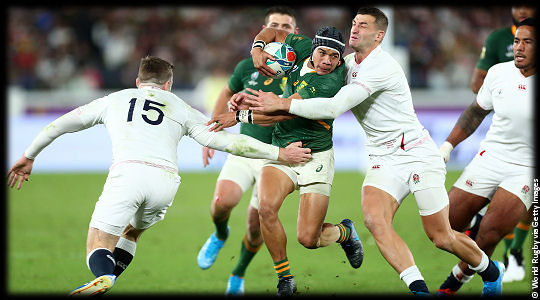 England v South Africa Cheslin Kolbe wrapped up by Jonny May The Final RWC2019
