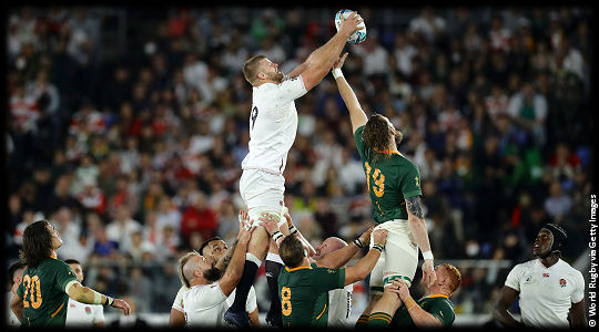 England v South Africa George Kruis in England lineout The Final RWC2019