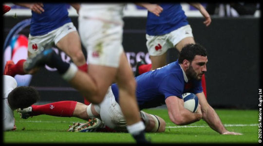 France vs England Charles Ollivon try 6Ns 2020
