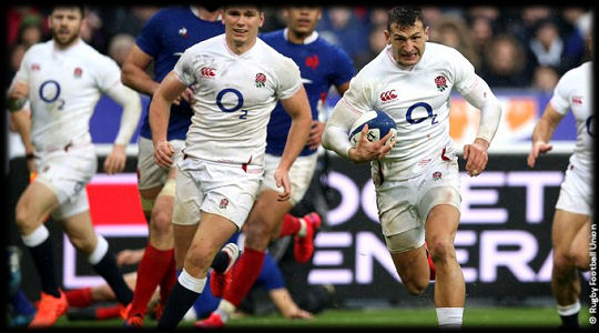 France vs England Jonny May try 6Ns 2020