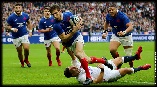 France vs England Vincent Rattez try 6Ns 2020