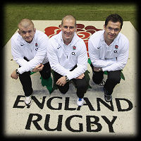 Graham Rowntree Stuart Lancaster Andy Farrell England Rugby