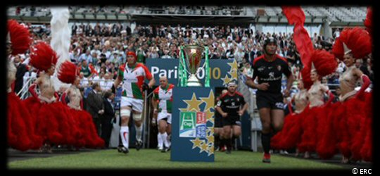 Heineken Cup Final 2010 Teams Run Out