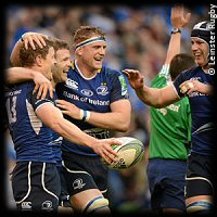 HCup QF Leinster Cardiff Blues Brian ODriscoll try celebration