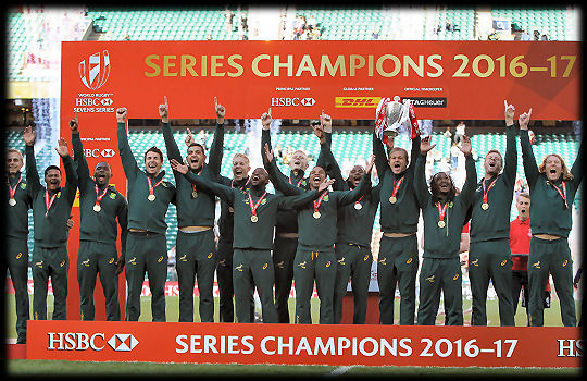 HSBC World Rugby Sevens Series Champions South Africa 2017