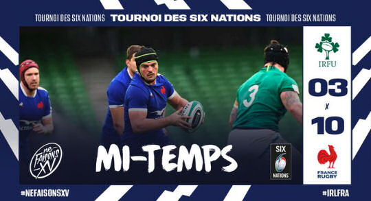 Ireland v France HT 6Ns 2021