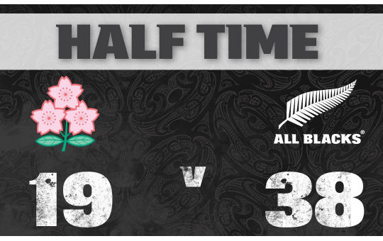 Japan v All Blacks HT