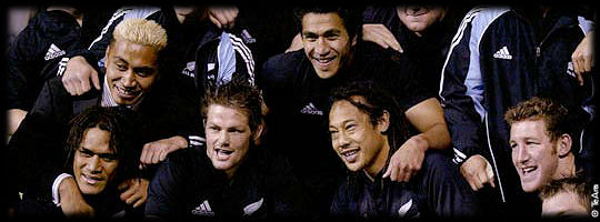 Jerry Collins Richie McCaw Tana Umaga All Blacks 2005