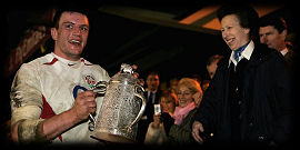 Martin Corry HRH Princess Anne Calcutta Cup