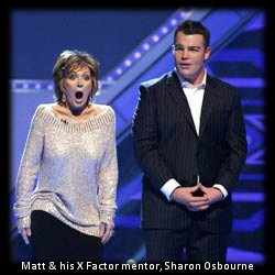 Matt Stevens with Sharon Osbourne - X Factor