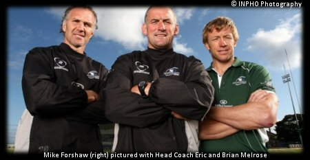 Mike Forshaw (right) pictured with Head Coach Eric and Brian Melrose
