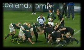 Tri Nations New Zealand vs South Africa scrum