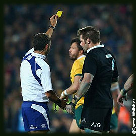 Richie McCaw Yellow Card New Zealand Australia Bledisloe Cup The Rugby Championship 2014