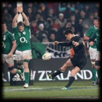 New Zealand Ireland 2nd Test Dan Carter drop goal