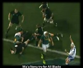 Ma'a Nonu try for New Zealand