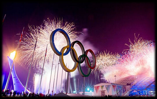 Olympic Rings fireworks Rio 2016