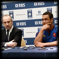 Philippe Saint Andre Thierry Dusautoir RBS 6 Nations Launch 2015