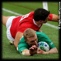 QF1 Ireland v Wales Keith Earls try