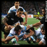 QF4 New Zealand v Argentina Julio Farias Cabello try