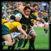 QF4 South Africa v Australia Pierre Spies high tackled