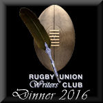 Rugby Writers Dinner 2016