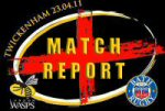 St George's Day Match Report