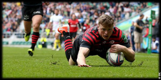 Saracens Clermont Chris Ashton SF1 Heineken Cup 2014
