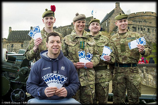 Scottish Rugby Tickets for Troops RBS 6 Nations 2015