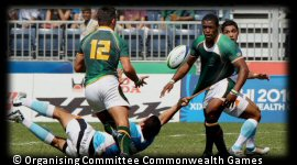 Commonwealth Games Rugby 7s Day 1 South Africa India