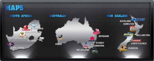 Super Rugby Map