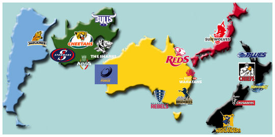 Super Rugby Teams 2016