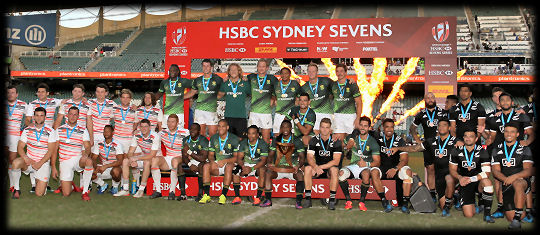 Sydney 7s Gold South Africa Silver England Bronze New Zealand 2017