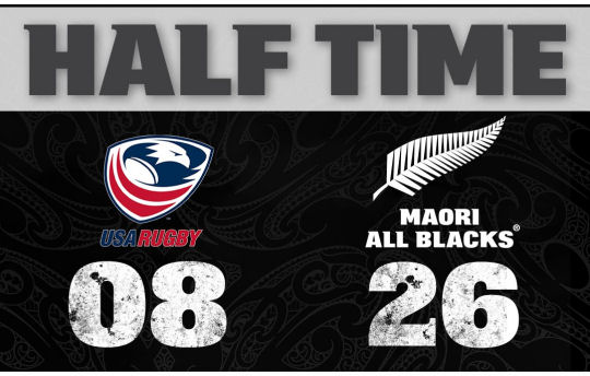 USA Rugby v Maori All Blacks HT
