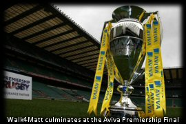 Aviva Premiership trophy at Twickenham Stadium