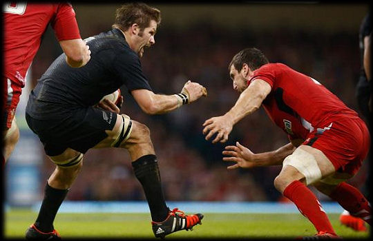 Wales All Blacks Richie McCaw Sam Warburton