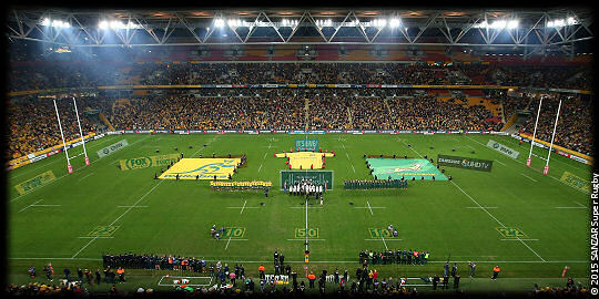 Wallabies Springboks Suncorp Stadium anthems TRC 2015