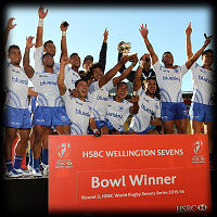 Wellington 7s 2016 Samoa Bowl winners