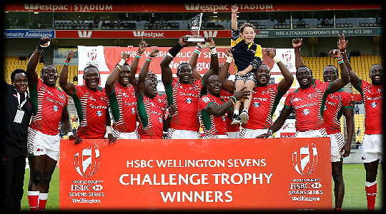 Wellington 7s Challenge Trophy Winners Kenya 2017