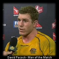 Tri Nations Australia vs South Africa: David Pocock - Man of the Match